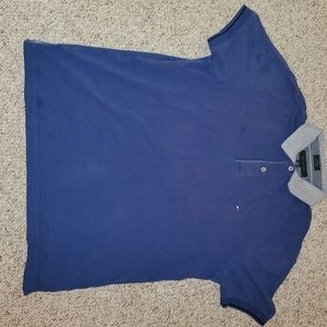 Tommy Hilfiger size large blue polo tee shirt